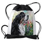 Bernese Mountain Dog Painting Drawstring Bag