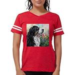 Bernese Mountain Dog Painting Womens Football Shir