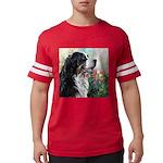 Bernese Mountain Dog Painting Mens Football Shirt