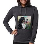 Bernese Mountain Dog Painting Womens Hooded Shirt