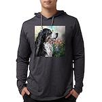 Bernese Mountain Dog Painting Mens Hooded Shirt
