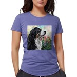 Bernese Mountain Dog Painting Womens Tri-blend T-S