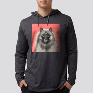 Keeshond Mens Hooded Shirt