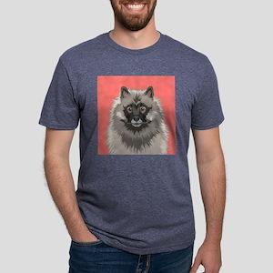 Keeshond Mens Tri-blend T-Shirt