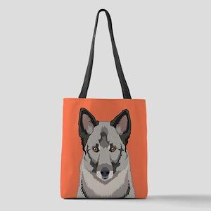 Norwegian Elkhound Polyester Tote Bag