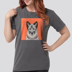 Norwegian Elkhound Womens Comfort Colors Shirt