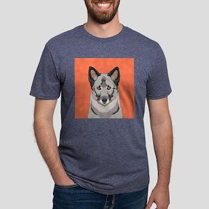 Norwegian Elkhound Mens Tri-blend T-Shirt