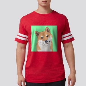 Shiba Inu Mens Football Shirt