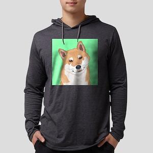 Shiba Inu Mens Hooded Shirt