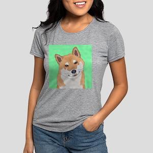 Shiba Inu Womens Tri-blend T-Shirt