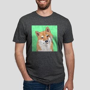 Shiba Inu Mens Tri-blend T-Shirt