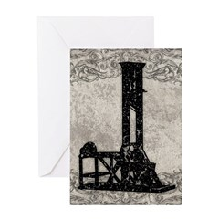 Guillotine Greeting Card