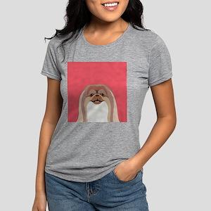 Pekingese Womens Tri-blend T-Shirt