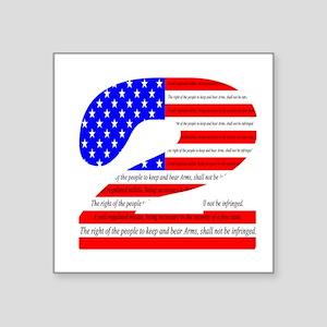 """2nd amendmant Pride Square Sticker 3"""" x 3"""""""