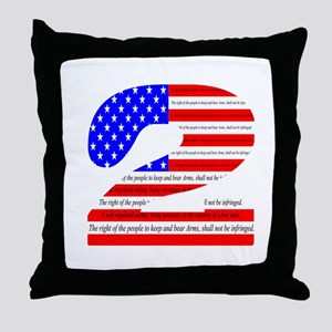 2nd amendmant Pride Throw Pillow