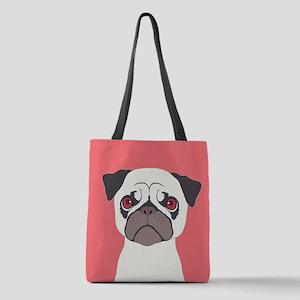 Pug Polyester Tote Bag