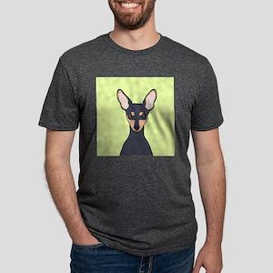 Miniature Pinscher Mens Tri-blend T-Shirt