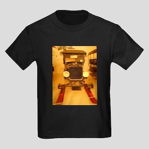 1926 Model T Snowmobile Kids Dark T-Shirt