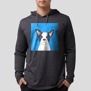 Boston Terrier Mens Hooded Shirt