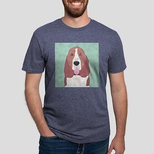 Basset Hound Mens Tri-blend T-Shirt