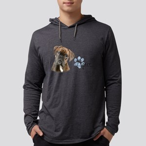 Boxer Puppy Mens Hooded Shirt