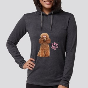 Poodle Womens Hooded Shirt
