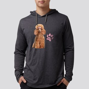 Poodle Mens Hooded Shirt