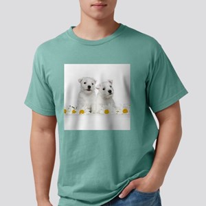 Westie Puppies Mens Comfort Colors Shirt