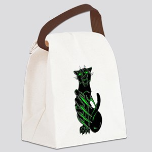 Evil Eyes Black Panther Canvas Lunch Bag