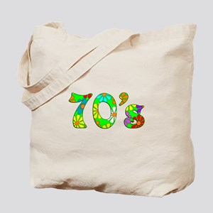 70's Flowers Tote Bag
