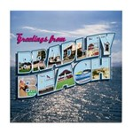 Greetings from Bradley Beach Tile Coaster