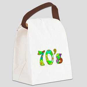 70's Flowers Canvas Lunch Bag
