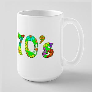 70's Flowers Large Mug