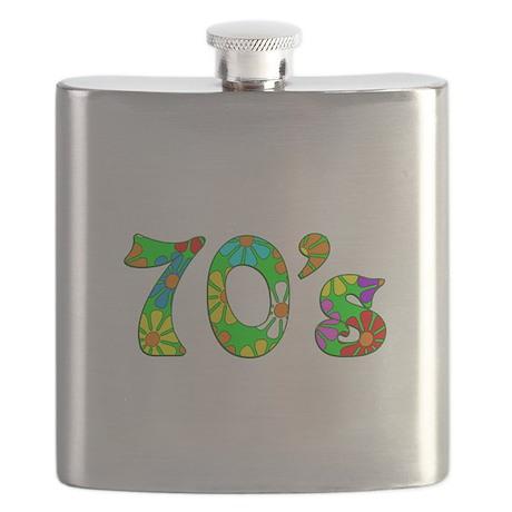 70's Flowers Flask