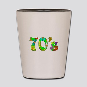70's Flowers Shot Glass