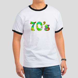 70's Flowers Ringer T