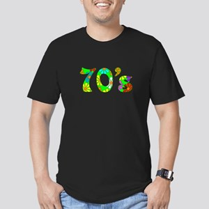70's Flowers Men's Fitted T-Shirt (dark)