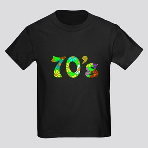 70's Flowers Kids Dark T-Shirt