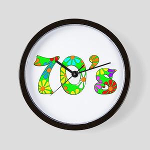 70's Flowers Wall Clock
