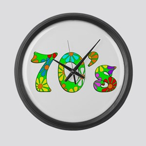 70's Flowers Large Wall Clock