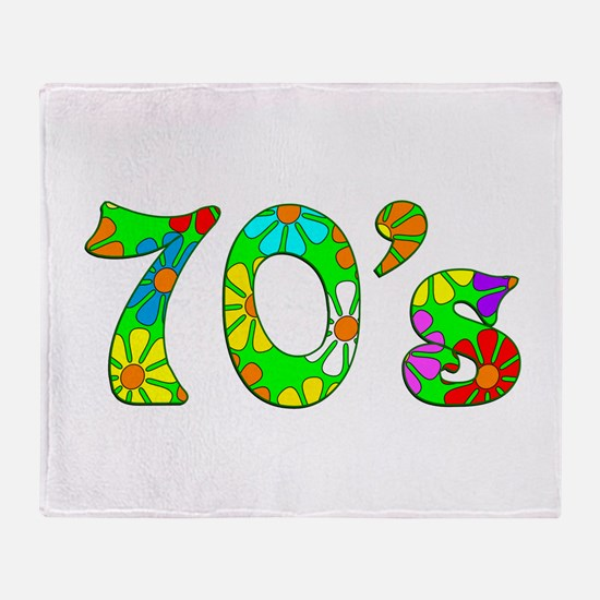 70's Flowers Throw Blanket