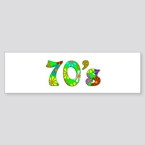 70's Flowers Sticker (Bumper)