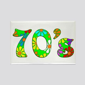 70's Flowers Rectangle Magnet