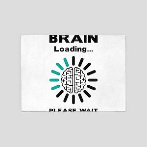 Brain loading 5'x7'Area Rug