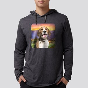 Beagle Meadow Mens Hooded Shirt