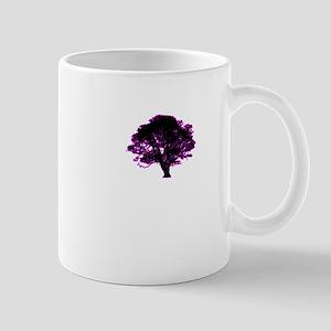 purple and black tree retro truck stop tee Mug