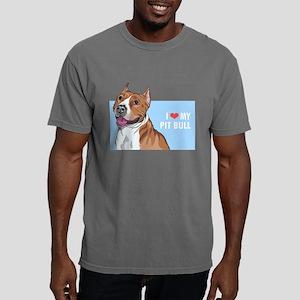 I Love My Pit Bull Mens Comfort Colors Shirt