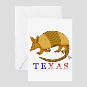 Texas armadillo greeting cards cafepress texas greeting cards pk of 10 m4hsunfo