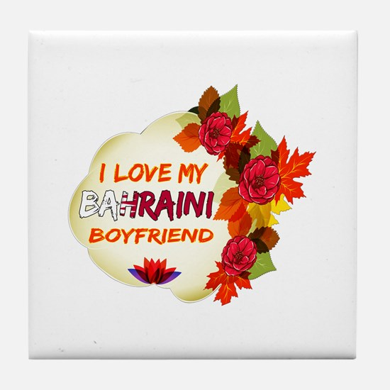 Bahraini Boyfriend designs Tile Coaster