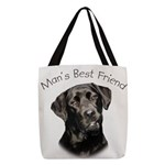 Mans Best Friend Polyester Tote Bag
